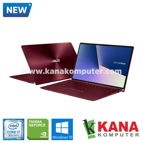 Asus Core i7 8565U Zenbook 13 UX333FN-A7603T (Burgundy Red) +SSD 512GB +Windows 10