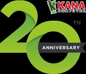Logo 20 tahun Kana Komputer